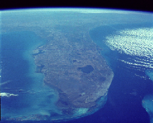 Florida From The Shuttle Image